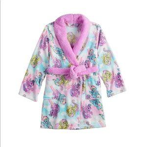 Girls My Little Pony Knee Length Plush Robe